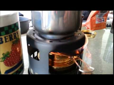 Esbit Coffee Maker Review and Trekking Cookset with Alcohol Stove