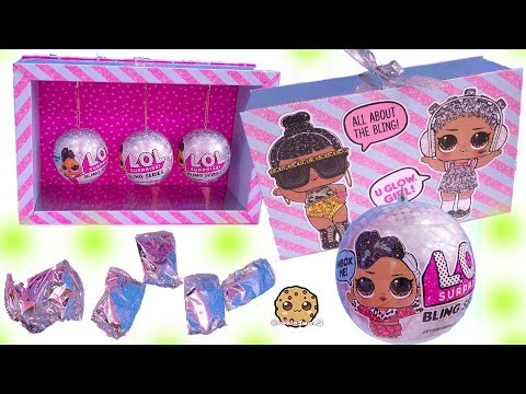 LOL Surprise BLING Blind Bag Balls ! Holiday Glitter Dolls - Toy Video_Legjobb videók: Vicces