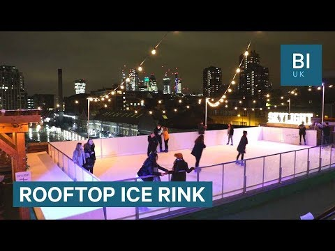 The London bar with an ice rink on its roof