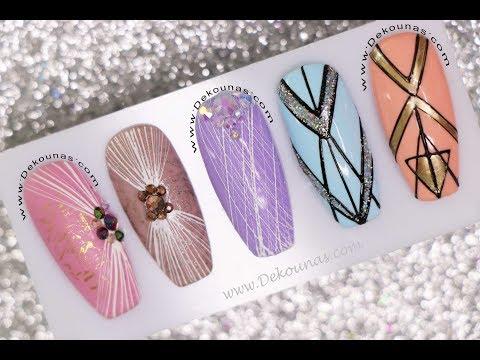 Uñas decoradas - Diseños de Uñas con SPIDER GEL  Deko Uñas - Spider gel Nail art