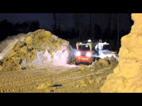 Bobcat T 770 moving snow Barrie ON
