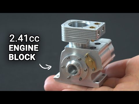 Making a 4 Stroke Engine. Episode 4 - Engine Block and Cylinder Head