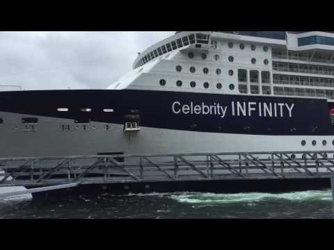Celebrity Cruises ship crashing into Alaskan port