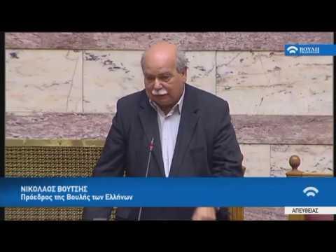 Ν.Βούτσης (Αναφορά στη μνήμη του πρώην Προέδρου της Βουλής Δ.Σιούφα)(16/04/2019)