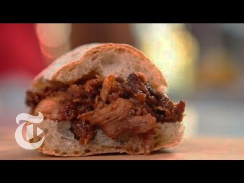 views - Melissa Clark demonstrates a way to make tender pulled pork slathered in a tangy barbecue sauce for a smaller crowd. Read the story here: http://nyti.ms/17ZS...
