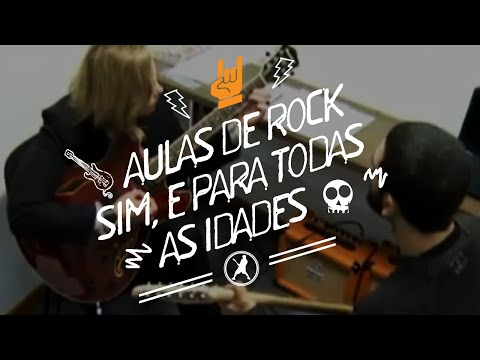 Escola de música onde se aprende tocar rock não importa a idade