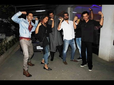 Varun Dhawan, Sonakshi Sinha, Arjun Kapoor At Screening Of Film Tevar