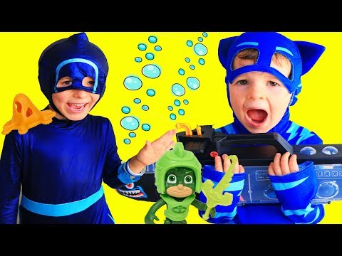 PJ Masks GEKKO DISAPPEARS Camouflage TO SAVE THE DAY from Night Ninja