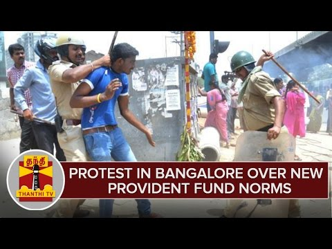 Report--Protests-in-Bangalore-Over-New-Provident-Fund-Norms--Thanthi-TV