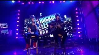 Justin Bieber - Boyfriend acoustic on New Year's Rockin' Eve