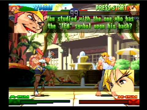 adon - All story line and dialog sequences from Adon's SFA3 game. Each win quote, mid-boss conversation and his full ending. No fighting, just talking. Made using t...