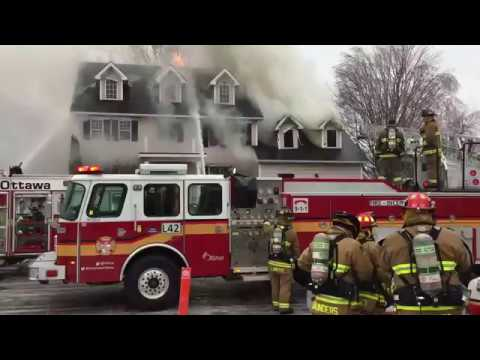 RAW VIDEO - Fire in Stittsville