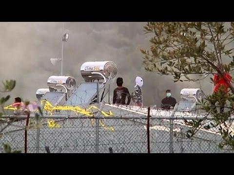 Λέσβος: Επεισόδια κατά την επίσκεψη του Υπουργού Μεταναστευτικής Πολιτικής