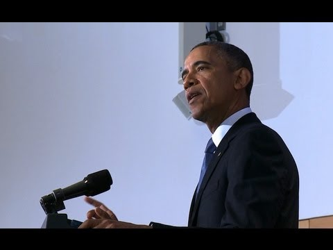 US - President Obama lays out the framework for U.S. counterterrorism strategy as we wind down the war in Afghanistan.