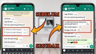 Video Cara Mengetahui Isi Pesan WhatsApp Yang Dihapus Oleh Teman MP3, 3GP, MP4, WEBM, AVI, FLV September 2018