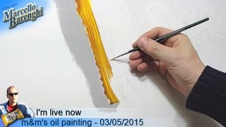 m&m's oil painting - 03/05/2015 LIVE Art - 2nd day