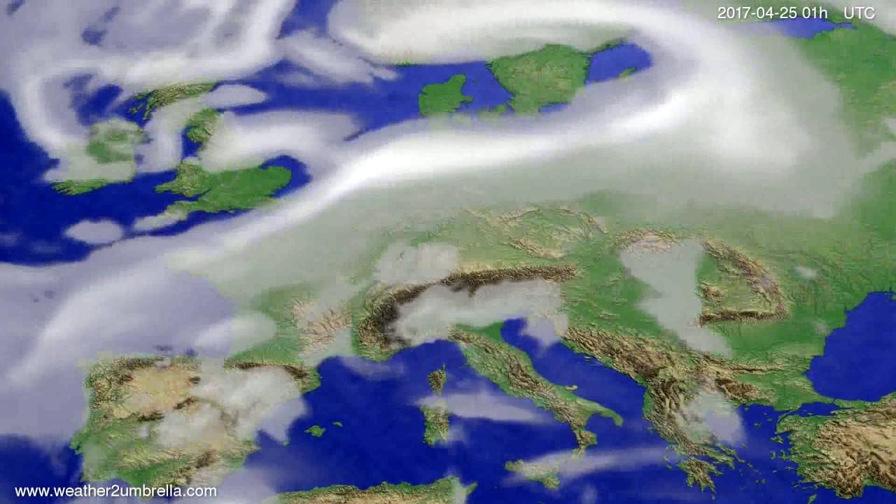 Cloud forecast Europe 2017-04-22