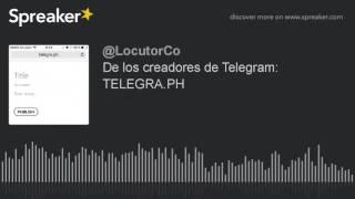 Fuente: https://www.spreaker.com/user/locutor.co/de-los-creadores-de-telegram-telegra-ph Una nueva plataforma para blogs tan libre que no necesitas abrir cue...
