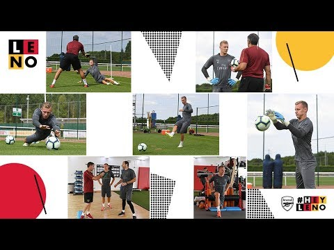 Bernd Leno's First Arsenal Training Session