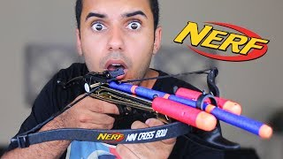 MOST PAINFUL NERF GUN ON EARTH!! I GOT HIT!!! (EXTREME NERF GUN EDITION!!) *INSANELY DANGEROUS*  In this video Marcus (ADHD) and Matt play with Nerf guns, Zing Air Storm, and CURVE BOWS YET AGAIN!! in one of the stupidest ways ever! By modding them and shooting them out of a crossbow!!, and more! PLEASE GUYS!! NOBODY ATTEMPT THIS AT HOME!MY GEAR!! -Camera US: http://amzn.to/2qk2v5oMicrophoneUS: http://amzn.to/2qnR0qMLens US: http://amzn.to/2quwoMNSD CardUS: http://amzn.to/2pNwnY4Become My Friend On Social Media :D Snapchat - MarcusJXDTwitter - https://twitter.com/ADHDsWorldInstagram - https://www.instagram.com/adhdsworld/WANT TO SEND FAN MAIL??? I OPEN EVERY ITEM ON MY VLOG CHANNEL!!!P.O. Box Adress:Marcus JonesP.O. Box 1421Whittier, CA90609-1421