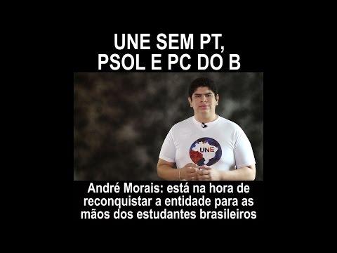 André Morais: UNE de volta aos estudantes, sem PT, PSOL e PCdoB