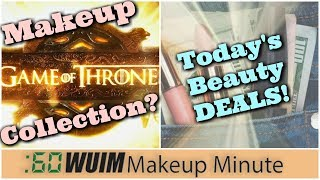 [CC Available] In today's makeup and beauty news, a TON of beauty brands have double cash back at Ebates (http://goo.gl/RsXghu) right now, we have a b & w sneak peek of the Game of Thrones shadows from Strobe Cosmetics, Bare Minerals is having a great sale on their website, and Storybook Cosmetics' dragon lipsticks are coming soon!*****Thanks for subscribing to my channel (https://www.youtube.com/subscription_center?add_user=jenluvsreviews) ! I specialize in thorough makeup reviews (Monday, Wednesday, Friday) that give you WAY more than the typical YouTube review including ingredient analysis, close up finger/brush swatches, and MORE! You'll also find What's Up in Makeup (Sunday) and the Makeup Minute (Monday-Friday) giving you the most UP TO DATE information about what is happening in the beauty industry, new product releases and MORE!FTC: This is not a sponsored video.*******************Visit our AWESOME Facebook Community! https://www.facebook.com/groups/whatsupinmakeup/*******************Instagram: jenluvsreviewsPeriscope: jenluvsreviewsTwitter: http://www.twitter.com/jenluvsreviews*******************Many YouTubers have inspired my choices for how I create content. Below are the people that have made the biggest impact!EmilyNoel83https://www.youtube.com/user/emilynoel83Stephanie Nicolehttps://www.youtube.com/user/MsStephNicEshani at TotalMakeupJunkie101https://www.youtube.com/user/TotalMakeupJunkie101Tati at GlamLifeGuruhttps://www.youtube.com/user/GlamLifeGuruCassie from Thrift Thickhttps://www.youtube.com/user/thriftthickPhilip DeFrancohttps://www.youtube.com/user/sxephil************************Music used in my videos:Out-Tro music - [Melodic Dubstep] Electro Light ft. Kathryn MacLean - The Edge [NCS Release]https://www.youtube.com/watch?v=15mPfnEHhxsMakeup Minute - 3 Best Background Music Breaking News from Free Music https://www.youtube.com/watch?v=ZXNZiH7Acu0********************************Magic Links (go.magik.ly) support this channel at no cost to you. Le