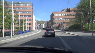 Hammerfest Norway  City pictures : Driving through the city center of Hammerfest, Norway