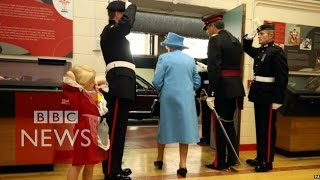 Video Child hit in face by soldier saluting the Queen - BBC News MP3, 3GP, MP4, WEBM, AVI, FLV November 2017