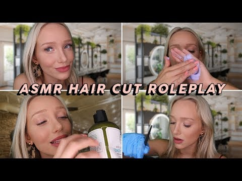 Hairdresser - ASMR Binaural Haircut Roleplay ‍ (Shampoo Suds, Brushing, Cutting, Tinfoil)  GwenGwiz