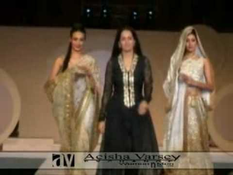 bollywood fashion shows - aeisha varsey indian fashion show.