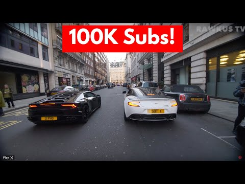 Car Spotting With Supercars On The Street | 100k Sub Special