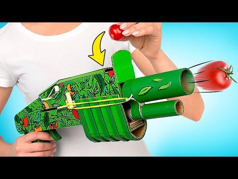 DIY Cardboard Tomato Blaster
