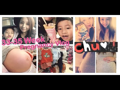 33-35 WEEK PREGNANCY VLOG♥