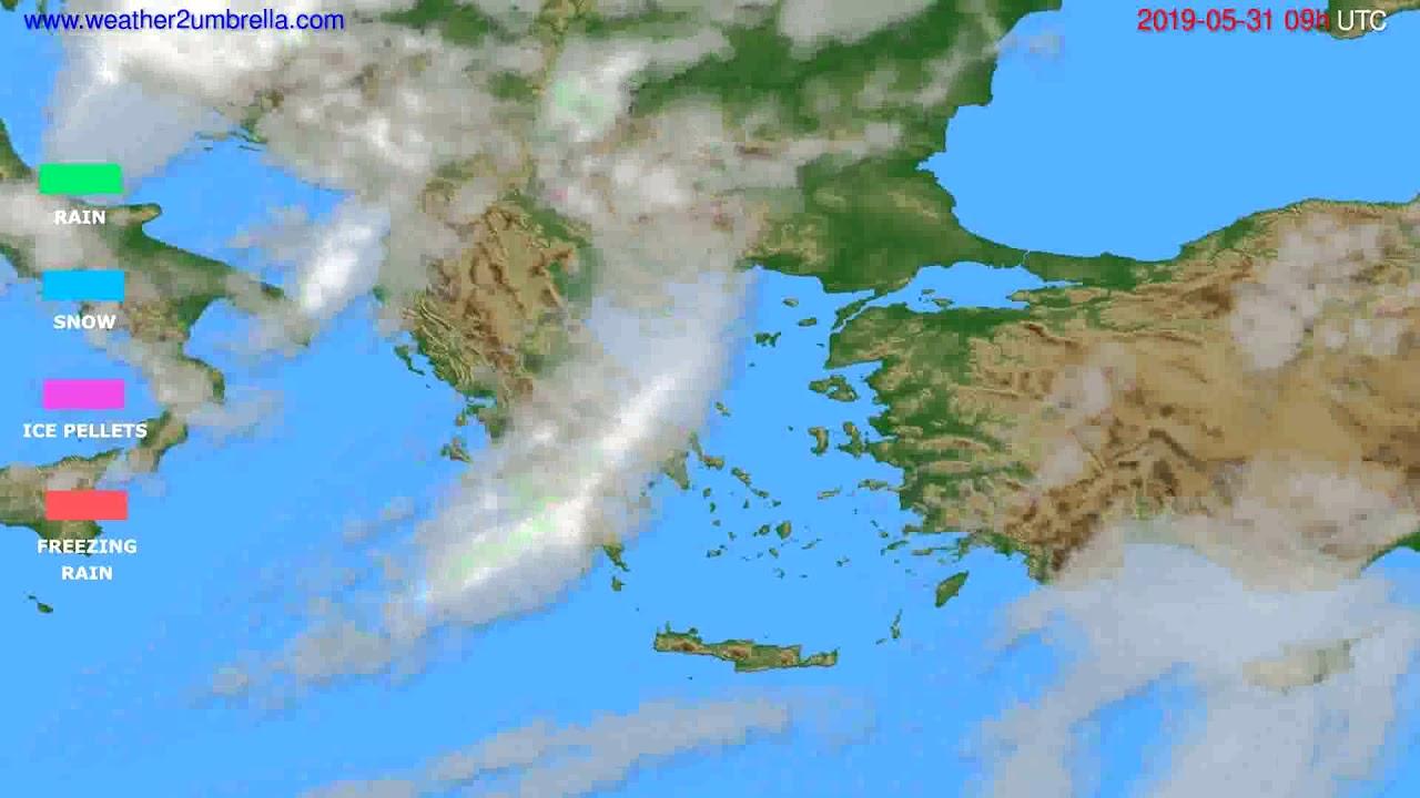 Precipitation forecast Greece // modelrun: 12h UTC 2019-05-29