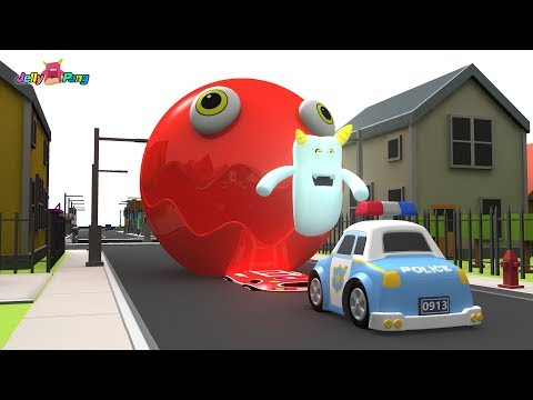 Learning Colors PAC MAN city Vehicle cute Ghost Hunter Police car Play for kids car toys