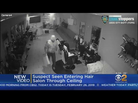 Man Seen Breaking Into Hair Salon