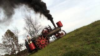 Hill climbing with a Minneapolis steam traction engine