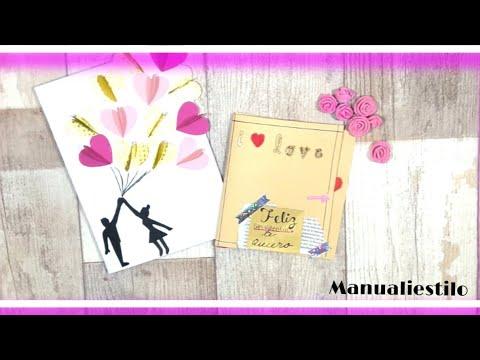 Manualidad unicas de San Valentí-Tarjetas de amor para el 14 de febrero(Día 1)