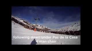 Grau roig Andorra  city photos gallery : Skiing Pas de la Casa & Grau Roig, Grandvalira in Andorra, 8th January 2013