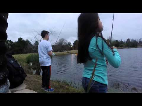 Pond Bass Fishing With The Kids—Double Hook Up's—Houston Texas. GoPro 60fps.