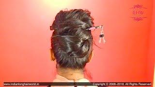 Video ILHW Rapunzel Yutika Making Her Special Stick Hair Bun with Knee Length Heavy Oiled Mane MP3, 3GP, MP4, WEBM, AVI, FLV Agustus 2018