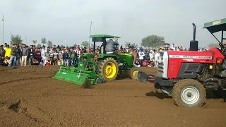 A Dekho g johndeere 5042 vs Massey 9500 da rotavator demo