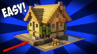 Minecraft: How To Build A Small Survival House Tutorial (Easy Starter House Tutorial) 2017