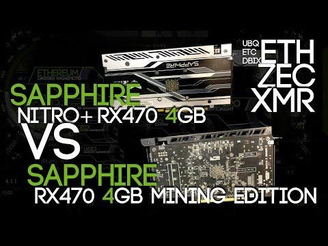 Mining Benchmark: Sapphire RX470 4GB Mining Edition VS Sapphire Nitro+ RX470 4GB ETH UBQ ZEC XMR