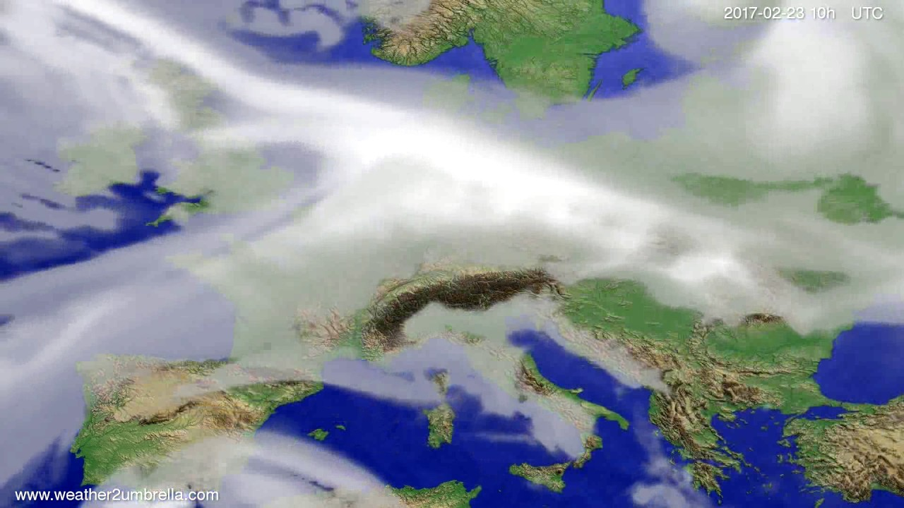 Cloud forecast Europe 2017-02-21