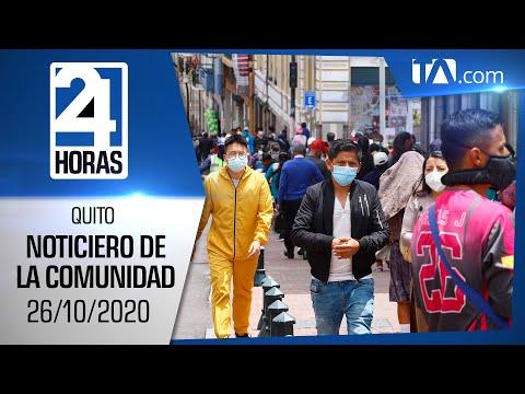 Noticias Ecuador: Noticiero 24 Horas, 26/10/2020 (De la Comunidad Primera Emisión)