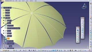 Catia V5 Tutorial|How to Design an Umbrella P3|Product Design Engineering Beginner's