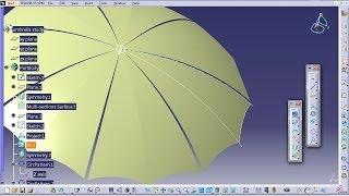Catia V5 Tutorial|How to Design an Umbrella P3|Product Design Engineering Beginner's