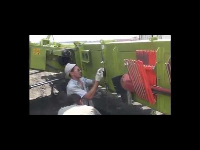 Монтаж жатки для уборки подсолнечника