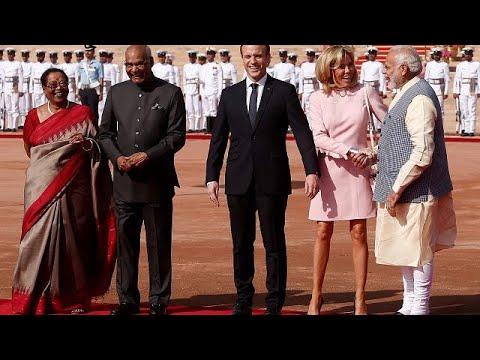 Emmanuel Macron zu Besuch in Indien